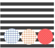 布のモチーフバリエを丸で表現した画像