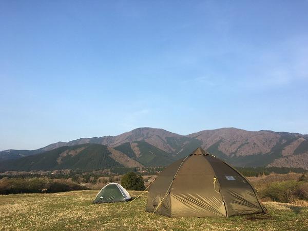テントが完成しました!